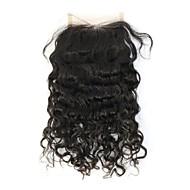 Kinky Straight שיער אדם סגירת מעגל חום בינוני גְרַם גודל Cap