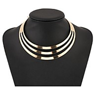 Women's Choker Necklaces Statement Necklaces Jewelry Alloy Fashion European Multi Layer Jewelry For Party Special Occasion Birthday Gift