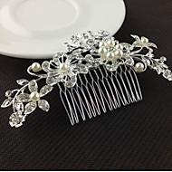 Stříbrné křišťálové perla hřebeny pro svatební party lady šperky
