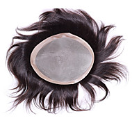 """6 """"* 8"""" menneskelig jomfru hår stykker for menn klærne mono basen klærne parykk 6 inches"""