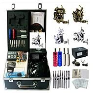 Basekey Tattoo Kit K0194 4 Machine With Power Supply Grips Cleaning Brush Needles