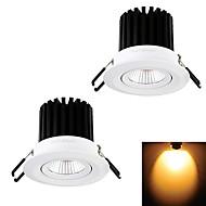 12W Zápustná světla 1 COB 1000 lm Teplá bílá Ozdobné AC 220-240 / AC 110-130 V 2 ks
