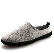 Lapos-Lapos-Női cipő-Papucsok & Balerinacipők-Alkalmi-Vászon-Fekete / Kék / Tengerészkék