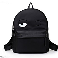 Cartoon Eyes Unisex Nylon Baguette Backpack / Sports & Leisure Bag / School Bag / Travel Bag / Carry-on Bag-Black