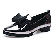 נעלי נשים-מוקסינים-עור-שפיץ-# 1 / 2 #-שמלה / קז'ואל-עקב שטוח