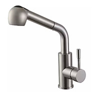 Kitchen Faucet Contemporary Pullout Spray Brass (Nickel Brushed / Brushed Nickel)