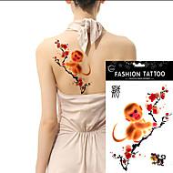 5pcs tatuaje del brazo de gran tamaño a prueba de agua tatuajes temporales 12 zodiaco chino elija cuerpo pegatinas de pasta de arte