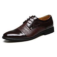Zapatos de Hombre Oxfords Oficina y Trabajo / Casual / Fiesta y Noche Cuero Negro / Marrón