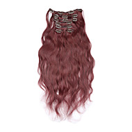 "15 ""-22"" brazilian clip in human hair extensions body wave clip ins voor zwarte vrouwen 7pcs / set"