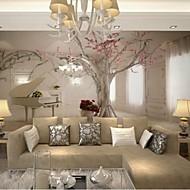 obývací pokoj moderní 3d šplhat kůže efekt velký nástěnný tapety na klavír a strom umění stěna dekor