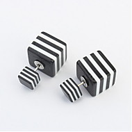 Fashion Accessories Jewelry New Square Double Sided Simple Square Stud Mix Color Gift For Women Girl