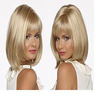 estilo clásico de Bob pelo pelucas sintéticas de la moda de alta calidad rubia media larga de la mujer peluca recta