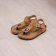 Children's Shoes Casual Comfort PU Sandals Black / Green / Red / Gray / Multi-color / Royal Blue / Almond / Khaki