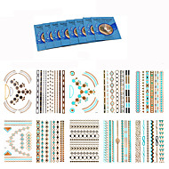 18Pcs/Lot =10pcs temporary tattoos +8pcs cleansing wipes-Autres-Multicolore-Motif-20.5*14.5CM- enPapier-Tatouages Autocollants-king horse-