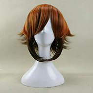 Capless New Stylish Mix Color Short Straight Synthetic Hair Wig for Halloween Party Wig