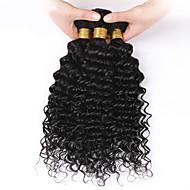 טווה שיער אדם שיער פרואני גלי 3 חלקים שוזרת שיער