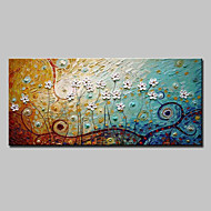 Ručně malované Abstraktní / Krajina / Květinový/Botanický motiv / Abstraktní krajinkaModerní Jeden panel Plátno Hang-malované olejomalba