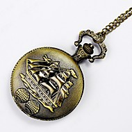 Men's Women's Unisex Pocket Watch Quartz Alloy Band Silver Yellow