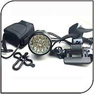 Fejlámpák / Kerékpár első lámpa LED Cree XM-L T6 Kerékpározás Vízálló / Újratölthető / Ütésálló 18650 12000 Lumen Akkumulátor