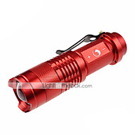 U`King® LED Flashlights/Torch LED 700lm Lumens 3 Mode Cree XR-E Q5 14500 / AA Adjustable Focus / Nonslip grip / Pocket