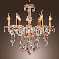 MAX:60W Chandelier ,  Traditional/Classic Gold Feature for Crystal Metal Bedroom / Dining Room / Study Room/Office / Entry