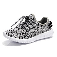 Boys' Sneakers Comfort Tulle Spring Fall Outdoor Comfort Lace-up Flat Heel Black Gray Blushing Pink Under 1in