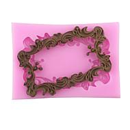 Lace frame Shaped Silicone Fondant Cake Cake Chocolate Silicone Molds,Decoration Tools Bakeware