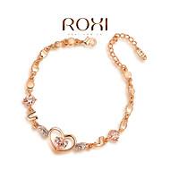18k Gold / Silber-Kristallarmband-Armband Schmuck für die Dame