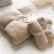 Vysoce kvalitní vícebarevný pevný korál fleece 1ks osuška + 1ks umýt ručník