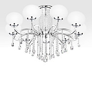 SL® Chandelier Crystal Luxury Modern Living 9 Lights