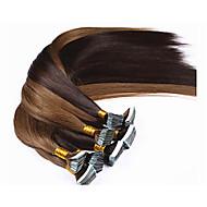 1ks / lot brazilský vlasy pásky prodlužování vlasů 2,5 g / c 40ks / balení rovnou kůže útku prodlužování vlasů pásku v prodloužení vlasů