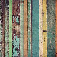 shinny Leder Effekt großes Wandtapete Jahrgang bunten Brett Kunstwanddekorwandpapier