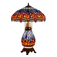 Tiffany Dragonfly Designed Desk Lamps with 3 Light