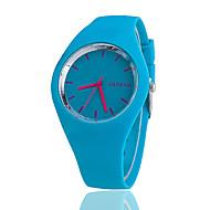 Men's Women's Unisex Fashion Watch Casual Watch Quartz Silicone Band Black White Blue Red Orange Brown Green Pink Purple Yellow Rose