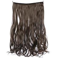 parykk brun 45cm syntetisk høy temperatur wire krøllete hår stykke farge 8
