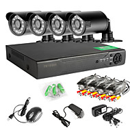 8CH 960H Network DVR  4PCS 1000TVL IR Outdoor CCTV Security Cameras System