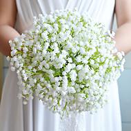 """פרחי חתונה עגול שושנים זרים חתונה סאטן כותנה נייר 9.06""""(לערך.23ס""""מ)"""