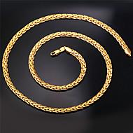u7® hoge kwaliteit vintage 18k chunky goud gevulde figaro ketting ketting voor mannen 6mm 22inches 55cm sieraden