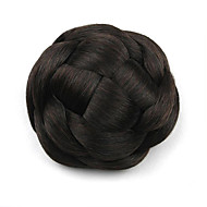 kinky krøllet sort europa bruden menneskehår uden dæksel parykker chignons g660205 2/33