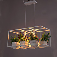 A Greenhouse Pot Restaurant Dining Room Lron Chandelier Double Personality