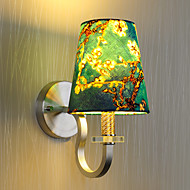 Modern Simplicity Wall Lights Metal Base Cap Fabric Shade Bedroom Bedside Lamp stairs Hallway Wall Lamps