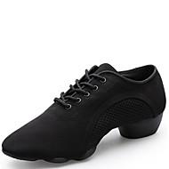 Na míru-Dámské-Taneční boty-Moderní-Kanvas-Nízký podpatek-Černá
