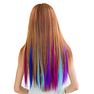 Synthetische Colorful Clip In Hair Extensions 1 Clips 7Color