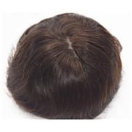 """8 """"x10"""" dziewiczy indyjski ludzki włos peruka męska Super cienka skóra 120% gęstości włosów"""