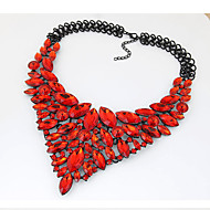 Women's Statement Necklaces Bib necklaces Jewelry Gemstone Crystal Fashion European Luxury Statement Jewelry Elegant Red Blue Jewelry For
