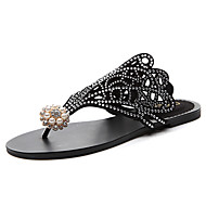 Women's Shoes Glitter Spring / Summer / Fall Flip Flops Slippers & Flip-Flops Casual Flat Heel Black