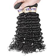 """3 pc / lotto 8 """"-30"""" 6a capelli dell'onda profonda vergine indiana dei capelli umani del tessuto fasci"""
