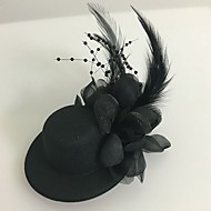 Women's Feather Tulle Headpiece-Wedding Special Occasion Fascinators 1 Piece