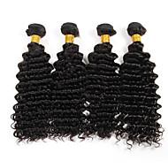 Человека ткет Волосы Бразильские волосы Крупные кудри 6 месяца 3 предмета волосы ткет