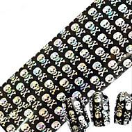 1pcs 100cmx4cm decoração de unhas brilho unha folha de etiqueta sexy lace crânio DIY flor beleza stzxk11-15